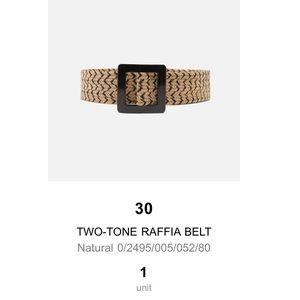 Zara Two-Tone Raffia Belt